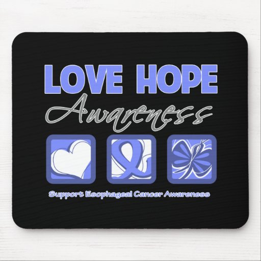 Love Hope Awareness Esophageal Cancer Mouse Pads
