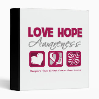 Love Hope Awareness Head and Neck Cancer Binders