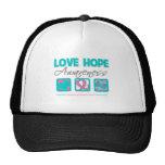 Love Hope Awareness Hereditary Breast Cancer Trucker Hat