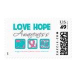 Love Hope Awareness Hereditary Breast Cancer Postage