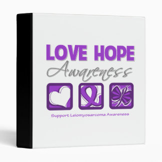 Love Hope Awareness Leiomyosarcoma Binders
