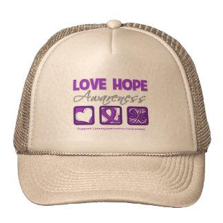 Love Hope Awareness Leiomyosarcoma Trucker Hat