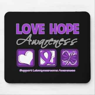 Love Hope Awareness Leiomyosarcoma Mouse Pads