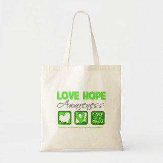 Love Hope Awareness Non-Hodgkin's Lymphoma Tote Bags