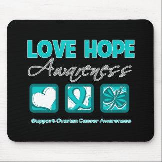 Love Hope Awareness Ovarian Cancer Mousepads