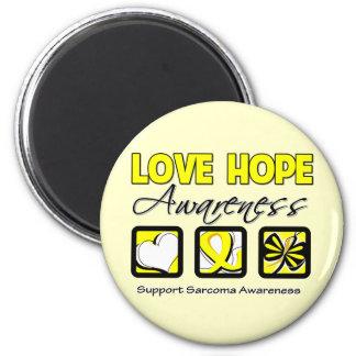 Love Hope Awareness Sarcoma 2 Inch Round Magnet