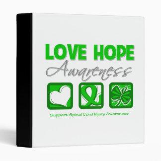 Love Hope Awareness Spinal Cord Injury 3 Ring Binder