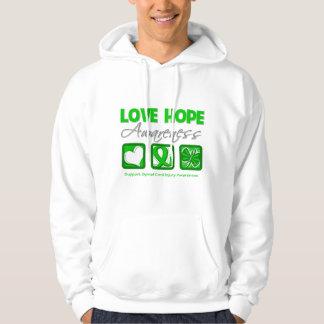 Love Hope Awareness Spinal Cord Injury Sweatshirts