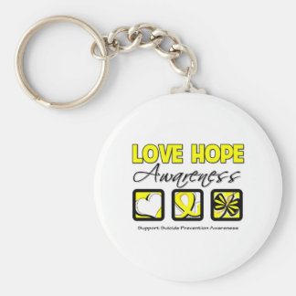 Love Hope Awareness Suicide Prevention Basic Round Button Keychain