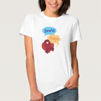 Love Hope Burgundy Ribbon Shirt
