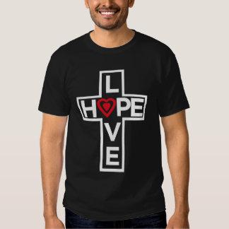 Love Hope Cross T-Shirt (Black)