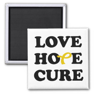 Love Hope Cure Bladder Cancer Yellow ribbon magnet