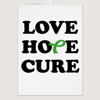 Love Hope Cure Green Kidney card