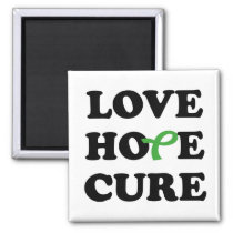 Love Hope Cure Kidney Cancer Green ribbon magnet