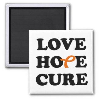Love Hope Cure Leukemia Orange ribbon magnet