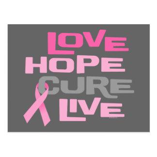 Love Hope Cure Live Postcard