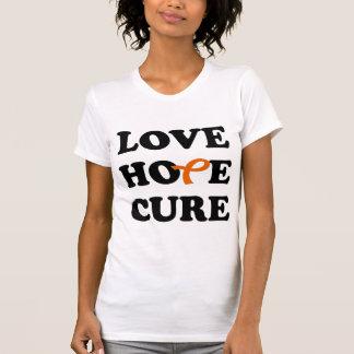 Love Hope Cure Orange Leukemia Cancer ribbon shirt