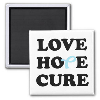 Love Hope Cure Prostate Cancer Blue ribbon magnet