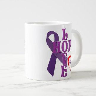 Love Hope Cure 20 Oz Large Ceramic Coffee Mug