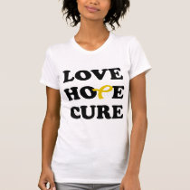 Love Hope Cure Yellow Bladder Cancer ribbon shirt
