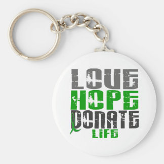 LOVE HOPE DONATE LIFE T-Shirts, Gifts, & Apparel Keychain