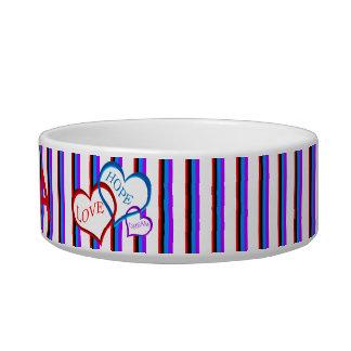 Love, Hope, Dream white Pet Food Bowl
