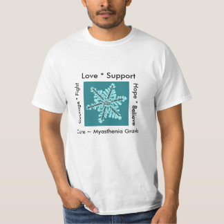 Love/ Hope/ Fight / Cure - Myasthenia Awareness T-Shirt