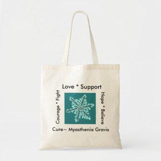 Love/ Hope/ Fight / Cure - Myasthenia Awareness Tote Bag