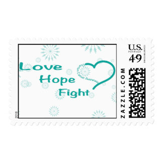 Love Hope Fight  - Ovarian Cancer Awareness Postage