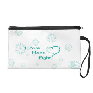 Love Hope Fight  - Ovarian Cancer Awareness Wristlet
