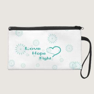 Love Hope Fight  - Ovarian Cancer Awareness Wristlet