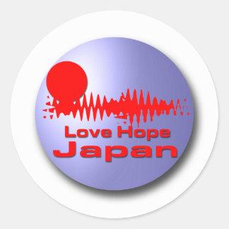 Love Hope Japan Classic Round Sticker