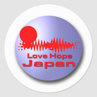 Love Hope Japan Classic Round Sticker