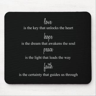 Love, Hope, Peace, Faith Mouse Pad