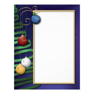Love, Hope, Peace, Joy Christmas Letter Letterhead