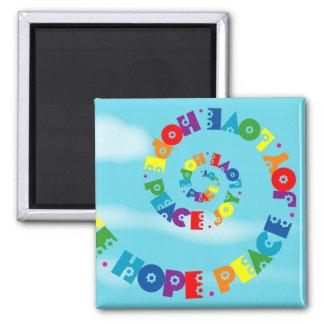 Love Hope Peace Joy Magnet