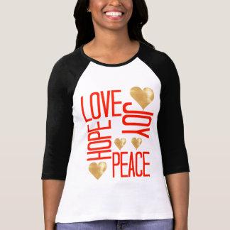Love-Hope-Peace-Joy Plus Size Tee