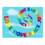 Love Hope Peace Joy Postcard