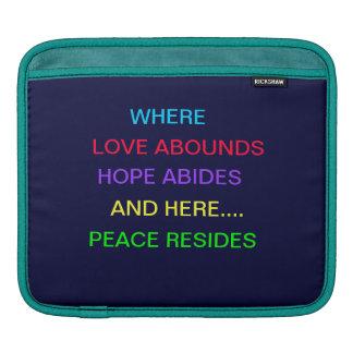 Love, Hope, Peace Rickshaw Sleeve Sleeve For iPads