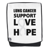 Love Hope Support Lung Cancer awareness Backpack