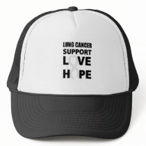 Love Hope Support Lung Cancer awareness Trucker Hat