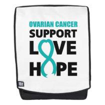 Love Hope Support Ovarian Cancer Awareness Backpack
