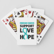 Love Hope Support Ovarian Cancer Awareness Playing Cards