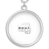 Love Hope Support Sarcoma Awareness Silver Plated Necklace