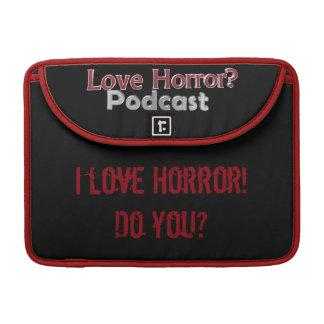 "Love Horror? Podcast Macbook Pro 13"" Sleeve MacBook Pro Sleeve"