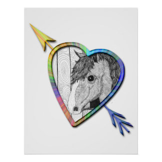 Love Horse Art Poster