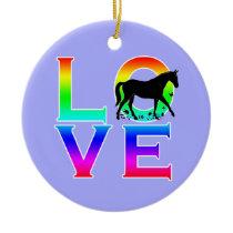 LOVE: Horses! Ceramic Ornament