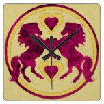 LOVE HORSES Clock