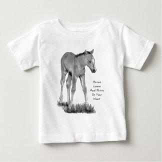 Love Horses: Hoofprints On Your Heart: Pencil Infant T-shirt