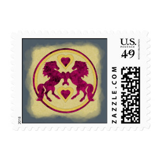 LOVE HORSES POSTAGE STAMPS